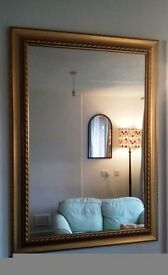 MIRROR, EXCELLENT QUALITY, GILT FRAME
