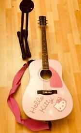'Hello Kitty' Fender Guitar - limited addition