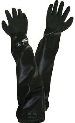 PVC Sandstrahlhandschuhe Teichpflege Handschuh * lange Handschuhe* 70cm *xl* Xl Lange Handschuhe