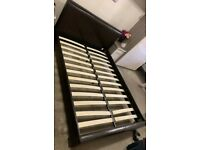 FAUX LEATHER BED - SINGLE