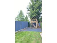 Grey children's play area rubber chippings 500kg
