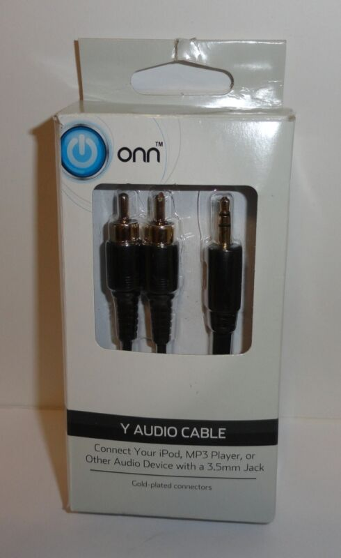 """ONN """"Y"""" Audio Cable  - 6ft."""