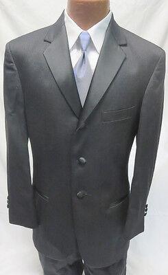 18 Boys Designer Oscar de la Renta Graphite Tuxedo Jacket & Pant Set Formal Suit Boys Designer Suit
