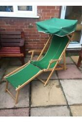 Vintage Green Steamer Canopy Chair