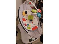 4moma mamaroo with orginal box and baby insert