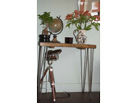 Industrial Console Table Hall Table Steel Hairpin Legs Retro Feel