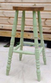 Farmhouse stool. Shabby chic