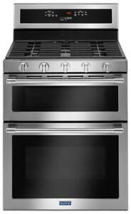 "Maytag MGT8800FZ 30"" double oven Gas Range with true convection 6.0 CU. FT"