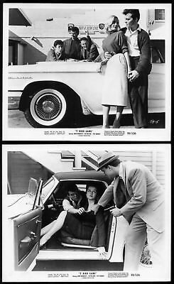 T-BIRD GANG - 1959 - Nice THUNDERBIRD shown - 2 Orig 8x10 Glossy Stills