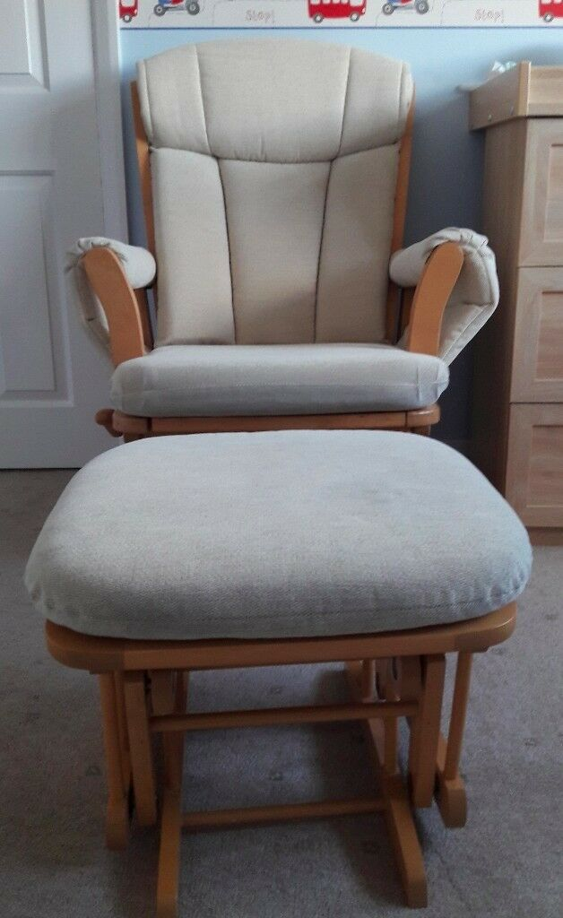 dutailier penny deluxe glider nursing chair and footstool in
