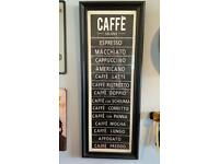 2 x cafe, kitchen, coffee bar signs. £15