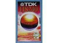 TDK 'HS240' VHS Cassette (new)