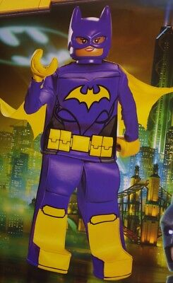 Girls BATGIRL Bat Girl LEGO BATMAN Movie Halloween Purim Costume S 6 M L 12 NEW (Girls Bat Girl Costume)