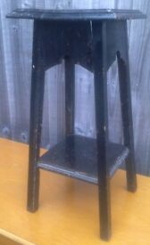 Vintage Plant Pot Stand - Black Wood