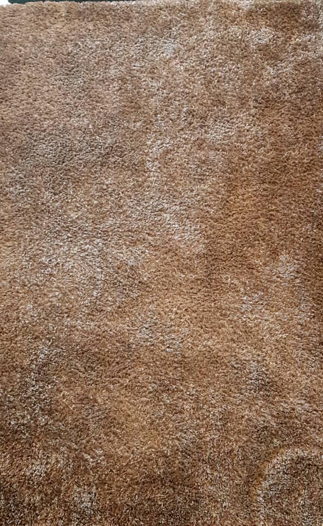 Brown shimmer rug