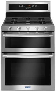"""Maytag MGT8800FZ 30"""" double oven Gas Range with true convection 6.0 CU. FT"""