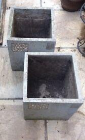 Joblot Stone / concrete outdoor planters / pots