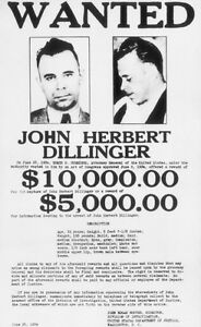 JOHN-DILLINGER-GANGSTER-PUBLIC-ENEMY-1-WANTED-POSTER-PHOTO-FBI-Most-Wanted