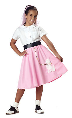 50 S Costumes (Child 50s Pink Poodle Skirt Grease)