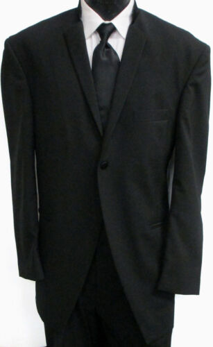 Nice Ecko Untld 1 Button Black Tuxedo Coat Wool long Western Duster TUXXMAN