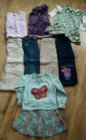 Girls trousers, jumpers, skirt age 4-5 years