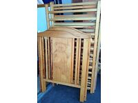Quality Pine Dropside Cot with Bear