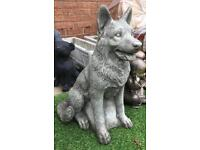 Stone garden home large heavy Alsatian