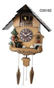 Deluxe 16-inch Pine and Farmer Cuckoo with Hand Made Carving - C00162