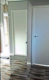 Ikea Pax mirror fronted wardrobe 50 x 60 x 201