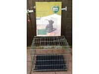 "DOG CRATE / CAGE SIZE 24"" x 18"" x 21"""