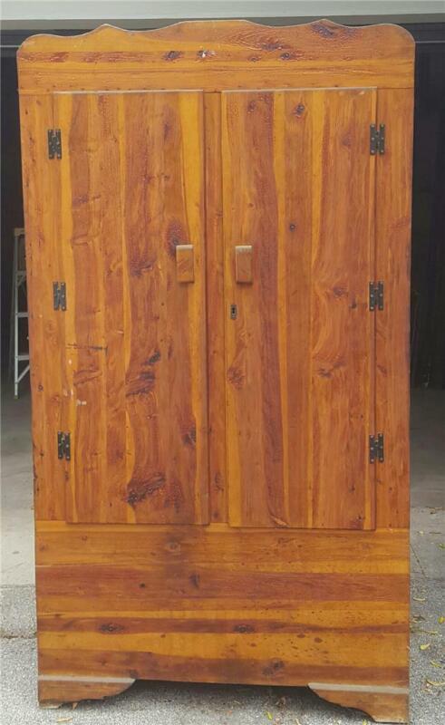 Vintage Cedar Closet Armoire - GDC - NEEDS TLC - FABULOUS ALL CEDAR ARMOIRE