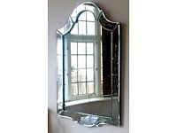 Venetian vintage ornate glass etched wall MIRROR