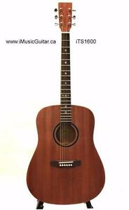 Solid Top Acoustic Guitars selection ; Top Solid Spruce, Cedar, Mahogany