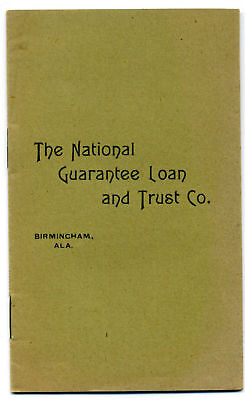 1897 BIRMINGHAM ALABAMA Savings & Loan Bank By-Laws; pamphlet imprint