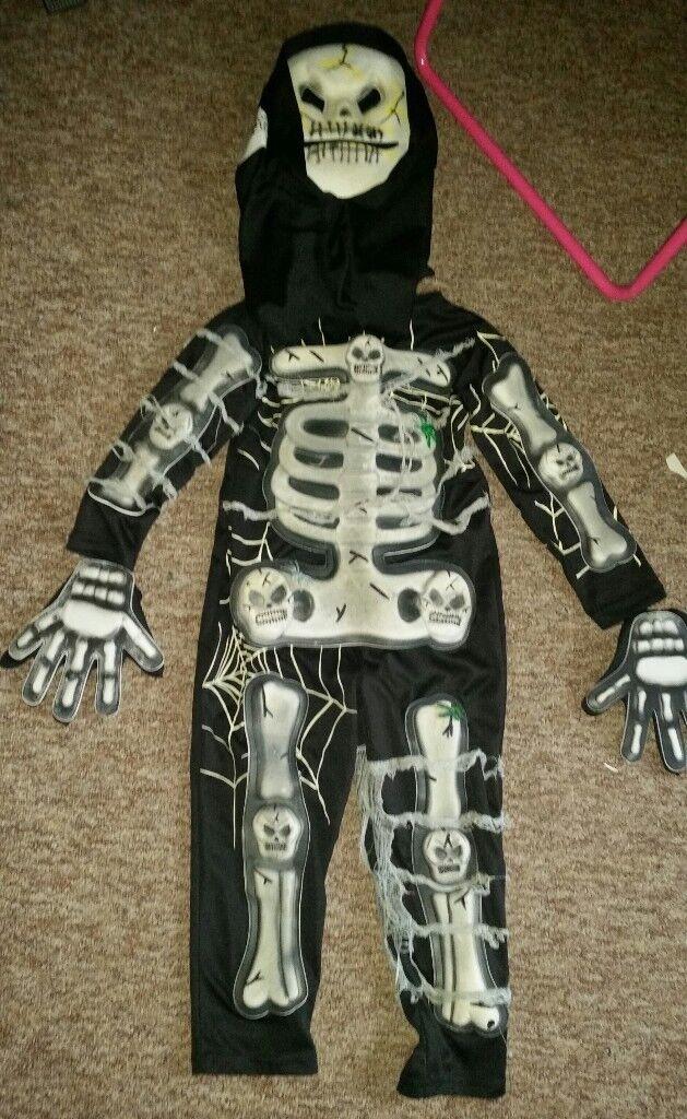 Skeleton costume age 3-5 years