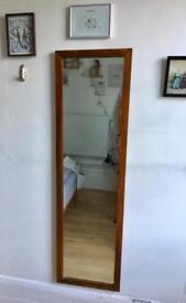 Full length mirror- wooden frame!