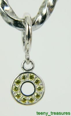 ENDLESS Jewelry CITRINE CIRCLE OF LOVE 925 SILVER Sterling Charm #43500-4 Circle Of Love Charm