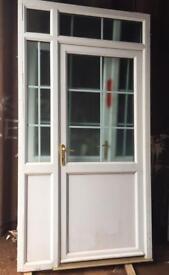 PVC DOOR WITH SIDE PANEL