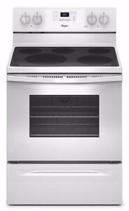 30'' White Stove, Convection & Ceramic, Whirlpool