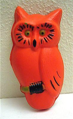 Halloween Orange Owl on Perch Cake Topper Old Stock](Owl Cake Topper)