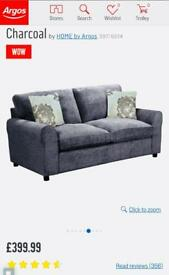 Sofa Bed - Charcoal 2 Seater sofa