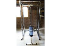 Ryno Squat Power Rack With Attachments Plus BodySolid Adjustable Flat/Incline Bench