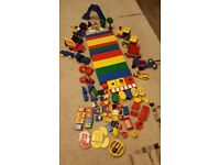 Lego Duplo. Collection of Genuine Items, including figures, train track etc as well as bricks