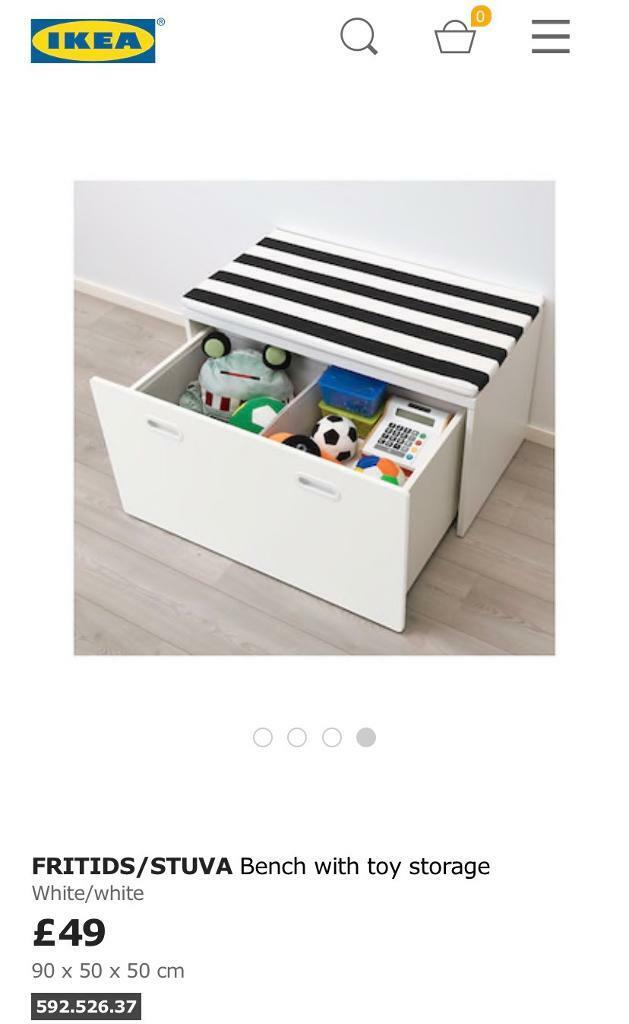 Ikea Stuva bench toy chest box with soft cushion seat | in Hackney, London | Gumtree