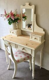 Beautiful Solid Pine Dressing Table Set