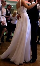 White Wedding Dress -once worn, dry cleaned