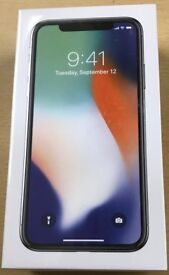 iPHONE X 256GB,BRAND NEW SEALED,ONE YEAR WARRANTY,GREY COLOUR