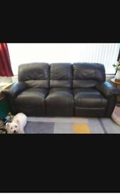 A Genuine Real Leather Three seater sofa in Great Condition