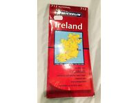 TRAVEL MAP OF IRELAND NORTHERN & REPUBLIC OF IRELAND ROI *FREE POSTAGE*