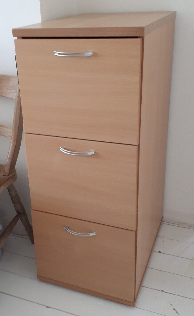 brand new 856eb 261b0 Wood effect three draw filing cabinet | in Seaford, East Sussex | Gumtree